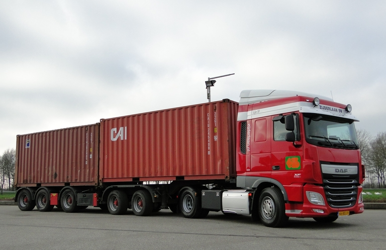 Transport zeecontainers
